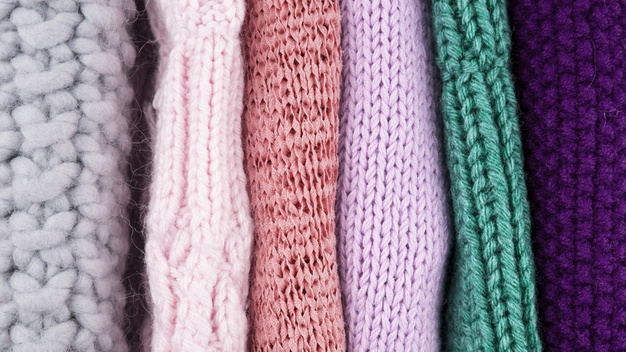 Forskellige farver af uld